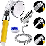 Filtered Shower Head with Vitamin C Filter - Hard Water Softener Removes Chlorine