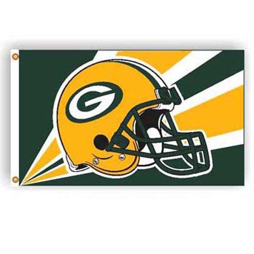 BSS - Green Bay Packers NFL Helmet Design 3'x5' Banner Flag