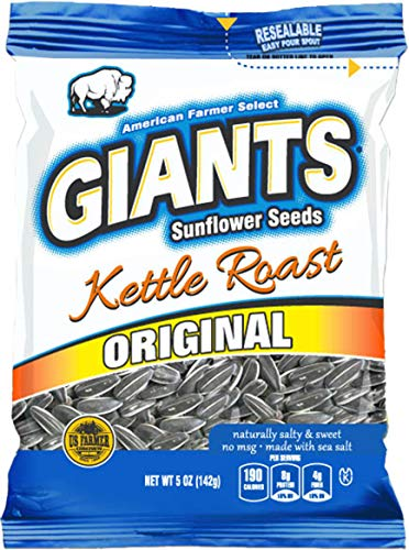 (GIANTS Sunflower Seeds Roast Salty Sweet Flavor, 5-Ounce Bags (Pack of)