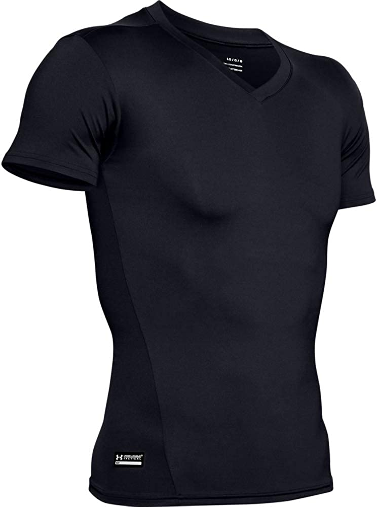 Size 2X-Large Under Armour 1216010 Men/'s White V-Neck HeatGear Compression Tee