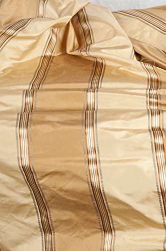 TSC Pure silk satin striped dual tone striped taffeta fabric sold by yard for home decor & apparels,52