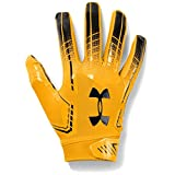 Under Armour Men's F6 Football Gloves, Steeltown Gold (750)/Black, Large