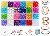 Vytung Beads Set for Jewelry Making Kids Adults Children Craft DIY Necklace Bracelets Letter Alphabet Colorful Acrylic Crafting Beads Kit Box with Accessories(color#1)