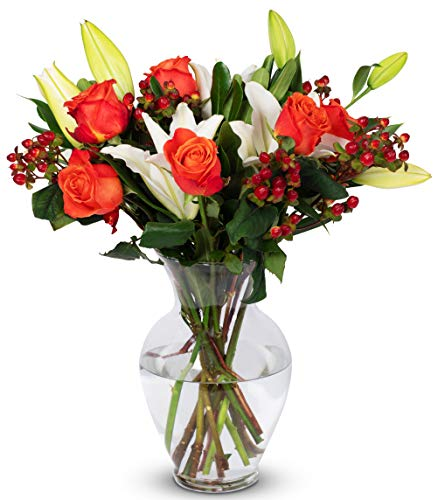 (Benchmark Bouquets Orange Elegance, With Vase (Fresh Cut Flowers))