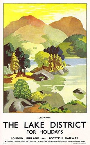 Vintage LMS USA Marketing Lake District Railway Poster A3//A2 Print