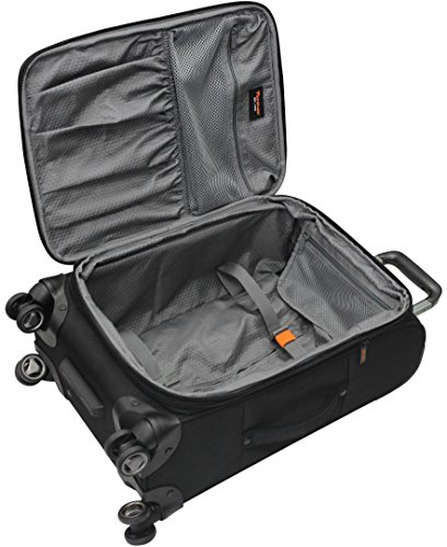 Pathfinder Luggage Presidential Midsize 25'' Suitcase With Spinner Wheels (25in, Black) by Pathfinder (Image #3)