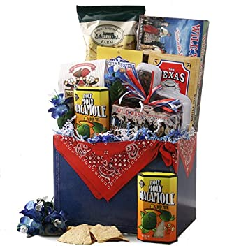 Amazon.com : Texas Round Up - Texas Gift Basket : Gourmet Candy ...