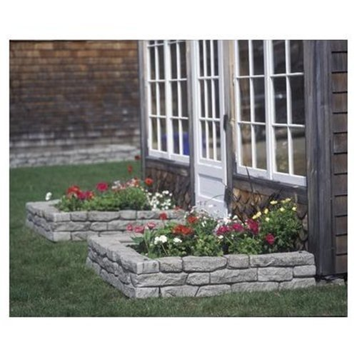 RTS Home Accents Rock Lock Interlocking Border System Straight Section With Spikes, 48-Inch Long, 4-Pack from RTS Companies Inc