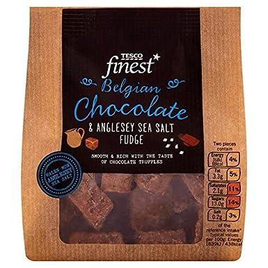 Tesco Finest Sea Salt Chocolate Fudge 150g Amazoncouk