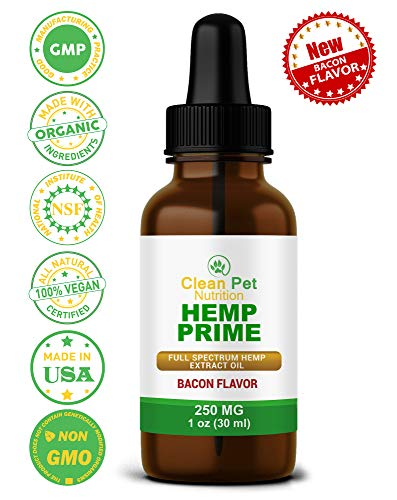Hemp Oil for Dogs & Cats - Organic Hemp Oil for Anxiety & Stress Relief- Arthritis Pain Relief - Hip & Joint Dog Supplement- Apply to Hemp Prime Treats (250mg)