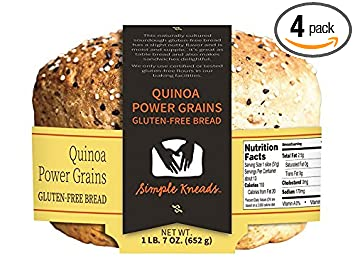 Quinoa Power Cereales Sin Gluten pan – Pack de 4: Amazon.com ...