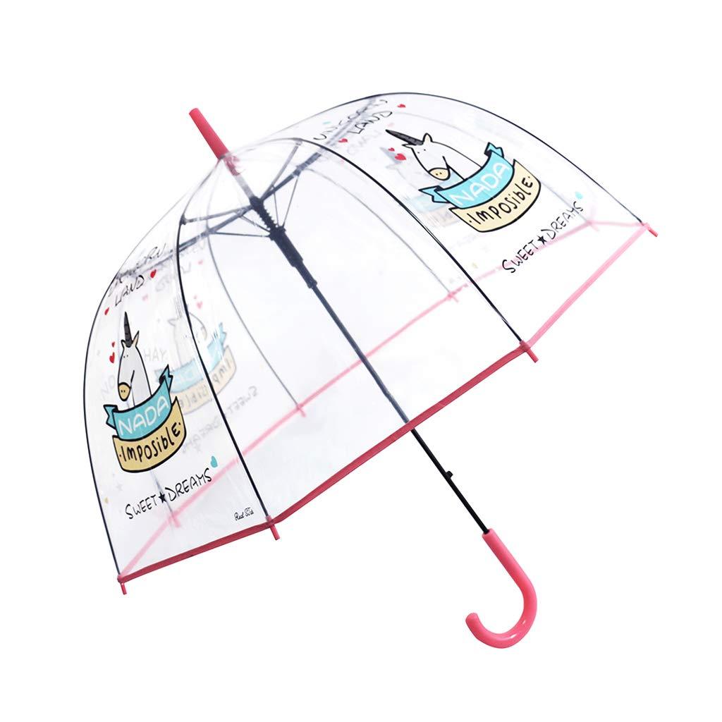 paraguas bóveda transparente de unicornio