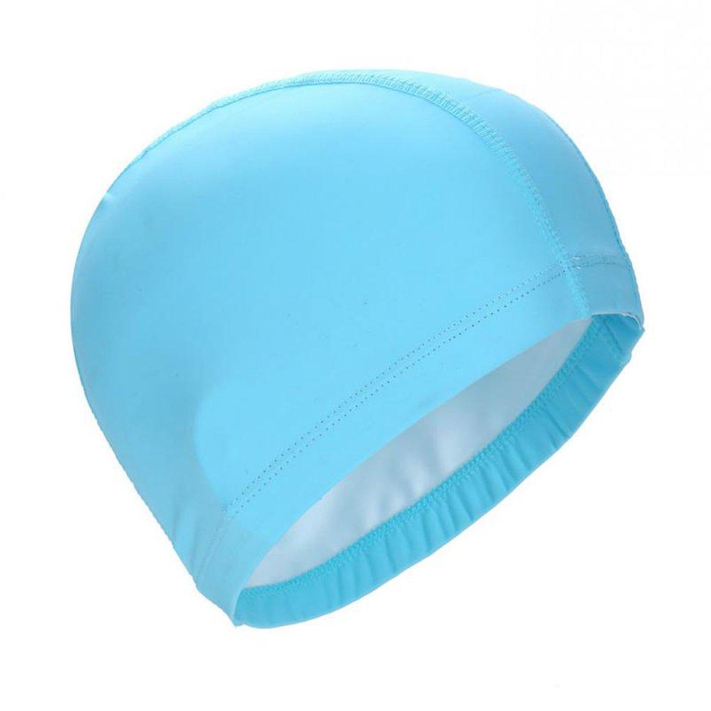 Royalr Elastic PU Impermeabile Proteggere Le Orecchie Lunghe Sport Capelli Nuoto Piscina Spa Cappello Cuffia da Nuoto per Gli Uomini Donne Adulti