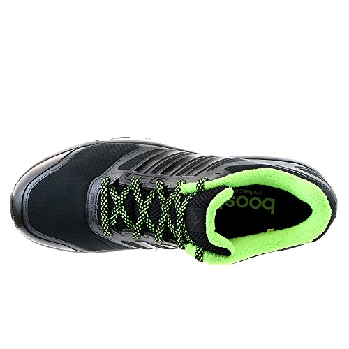Adidas Supernova Glide 6 Boost Atr zapato corriente de la zapatilla de deporte - Negro / negro / ver Black/Black/Neon Green