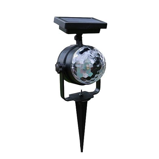 OSALADI Proyector Solar Rotación de la luz LED Proyector Luz ...