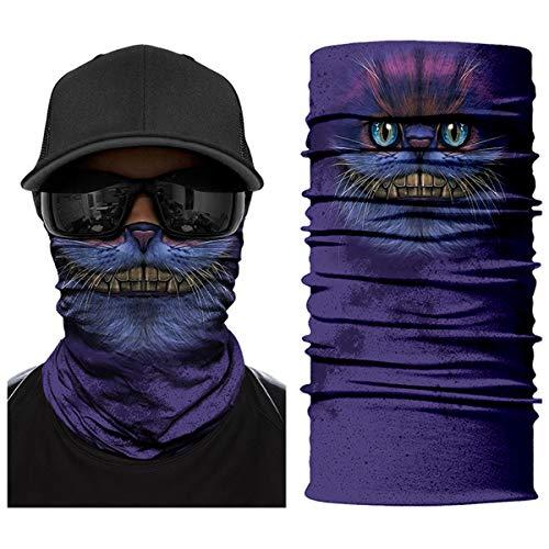 ECOMBOS Multifunktionstuch Gesichtsmaske Bedrucktes nahtlos veränderbaren Schädel Lätzchen Sport Reiten Sonnencreme Maske Schlauchtuch Halstuch Bandana Ski Motorrad