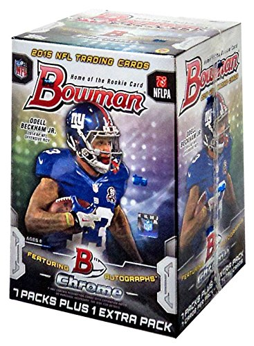 2015 Bowman NFL Football Series Unopened Blaster Box Made By Topps That Contains 8 Packs with 7 Cards Per for a Total of 56 Cards Per Box with Chance for Autographs - Nfl Bowman Chrome Trading Cards