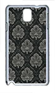 Samsung Galaxy Note 3 N9000 Cases & Covers -Flower Cloth Pattern Custom PC Hard Case Cover for Samsung Galaxy Note 3 N9000¨C White