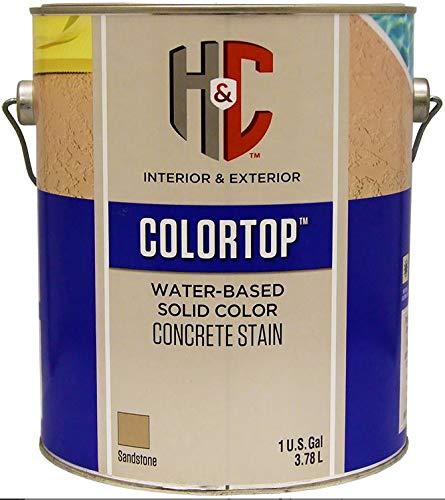 (Colortop Water-Based Solid Color Concrete Stain Sandstone Gallon)