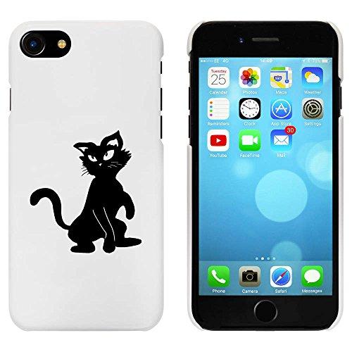 Blanc 'Chat Joueuse' étui / housse pour iPhone 7 (MC00065680)