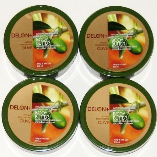 DELON Intense Moisturizing Olive Body Butter 6.8 Oz by Delon+