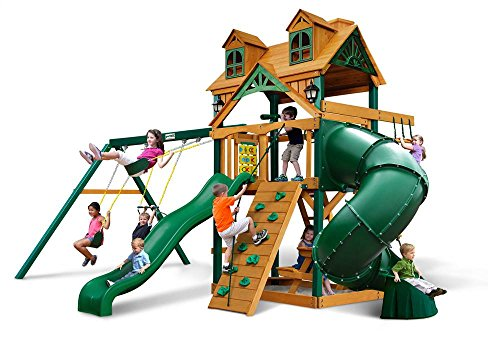 Cedar Swing Set with Timber Shield by Gorilla Playsets