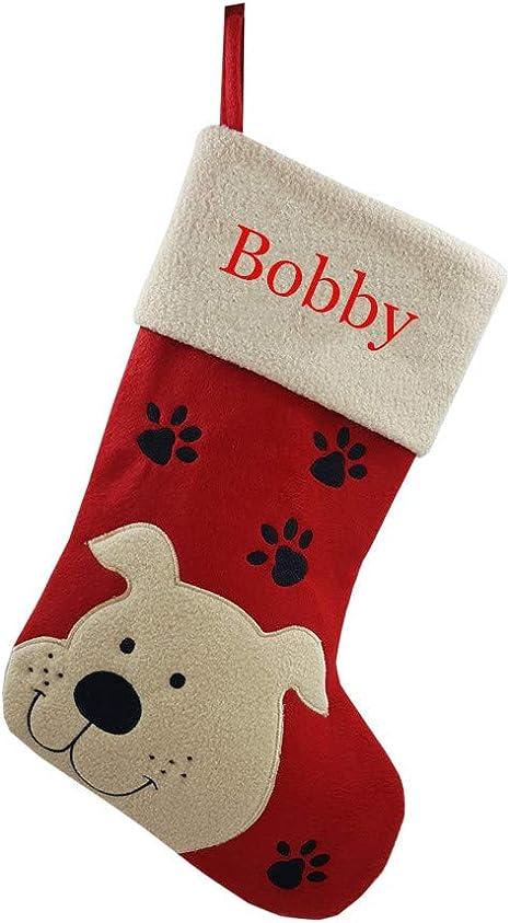 Personalised Dog Stocking Pet Chris Stocking Christmas Custom Gift Pet