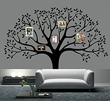 Giant Family Photo Frame Tree Wall Decal Removable Wall Stickers Tree  Branch Family Like Branches On