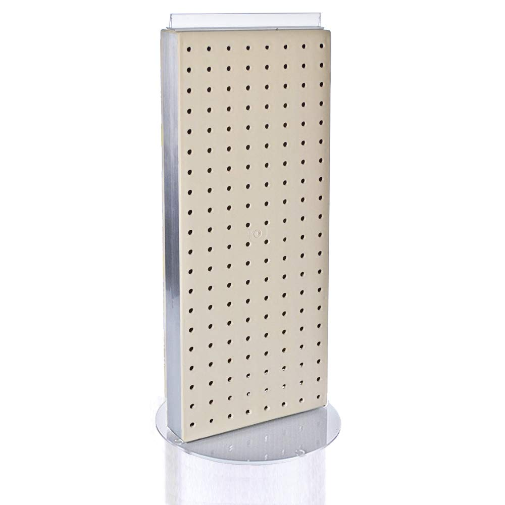 Azar 700509-PNK Pegboard Two-Sided Non-Revolving Counter Display Pink Translucent Color