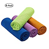 """Best Cooling Towels - [4 Pack] Cooling Towel for Neck(40""""x12""""),Ice Towel,Microfiber Towel Review"""