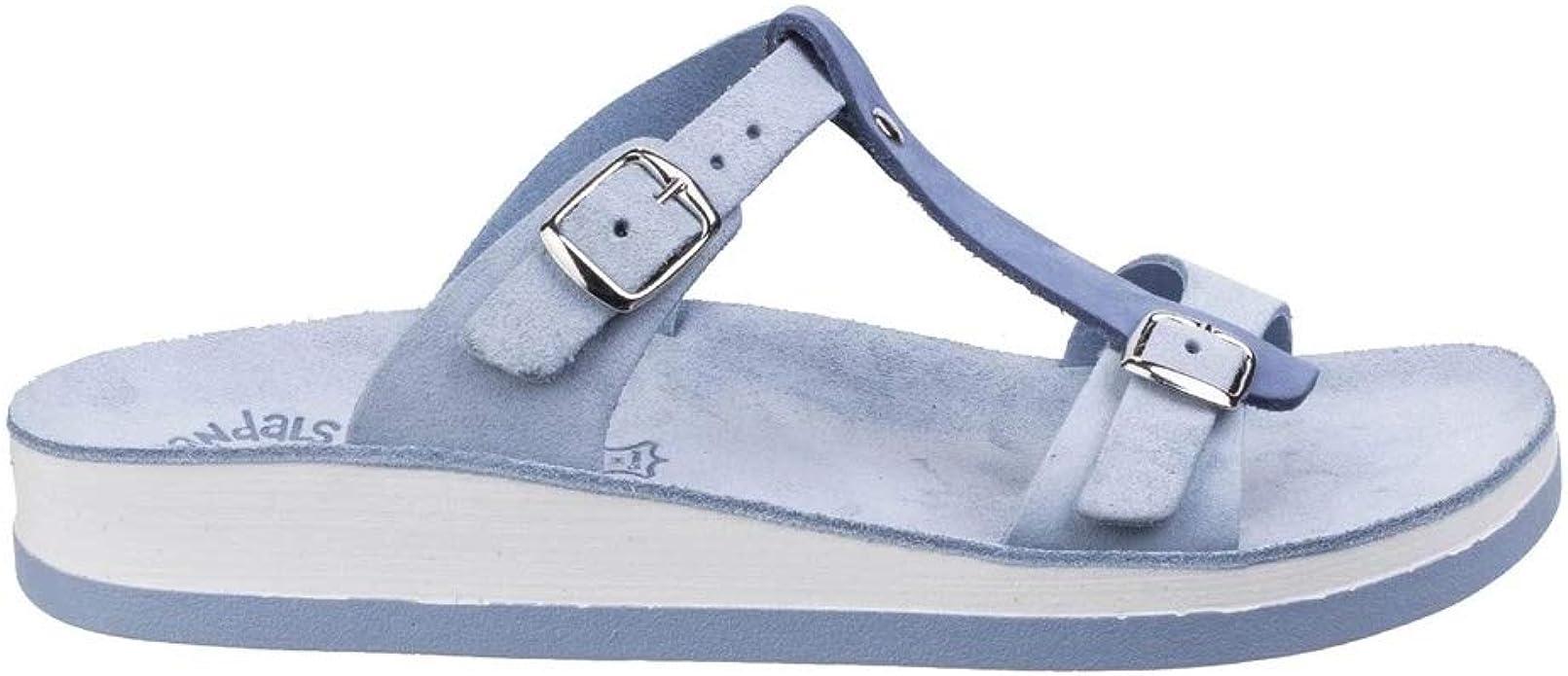 Fantasy Womens//Ladies Jessamine Buckle-Up Leather Summer Sandal