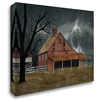 Dark and Stormy Night 48×36 Extra Large Gallery Wrapped Stretched Canvas Art by Jacobs, Billy