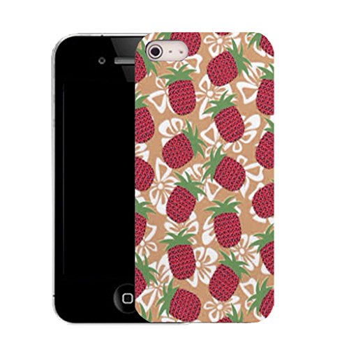 Mobile Case Mate iPhone 5c clip on Silicone Coque couverture case cover Pare-chocs + STYLET - red fruity pattern (SILICON)