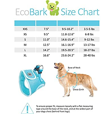 EcoBark Velcro Super Comfort Fully Adjustable Double Padded Step In Dog Harness