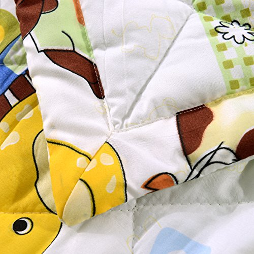 KFZ Summer Quilt Comforter Bedspread for Bed Breathable BDD 4 Sizes With Cartoon Animals Rabbit Giraffe Bear Pretty Flamingo Designs For Children Adult One Piece (Giraffe Bear,Yellow, Queen,79''x91'') by KFZ (Image #2)