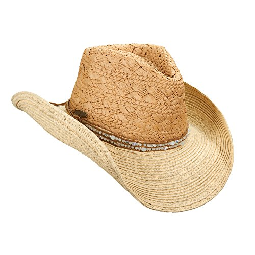 new-cappelli-fashion-paper-braid-western-bead-band-natural-cowboy-sun-hat-csw242