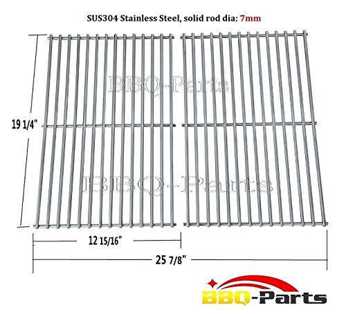 Hongso SCF3S2 BBQ Stainless Steel Wire Cooking Grid Replacement for Select Gas Grill Models by Jenn-Air, Nexgrill and Others, Set of 2