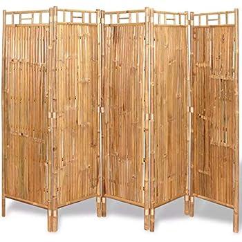 Amazon com: Festnight 5 Panel Room Divider Bamboo Tall Wide Folding