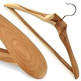 Hangerworld Pack of 5 XL Luxury Strong Cedar Wood Clothes Hanger with Non-Slip Trouser/Skirt Bar - 50cm (20'')