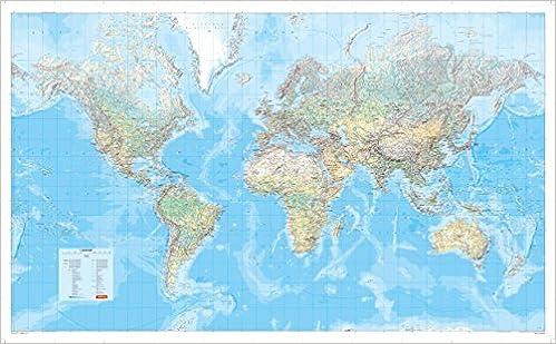 große weltkarte Die Große Weltkarte physisch 1:30 000 000, plano in Hülse  große weltkarte