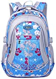 Coofit School Backpack for Girls Flowers Pattern Backpacks for Middle School Cute Bookbag for School