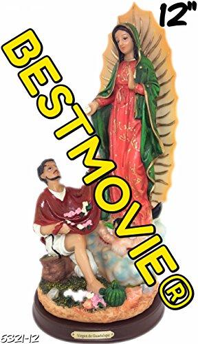 Virgen De Guadalupe Juan Diego (12 Inch Statue Our Lady Of Guadalupe W/ San St Juan Diego Saint Estatua Virgen)