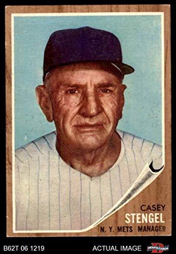 (1962 Topps # 29 Casey Stengel New York Mets (Baseball Card) Dean's Cards 4 - VG/EX Mets)