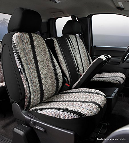 Fia TR47-35 BLACK Custom Fit Front Seat Cover Split Seat 40/20/40 - Saddle Blanket, (Black)