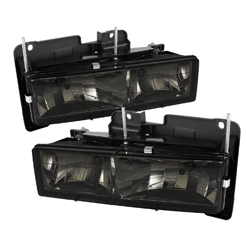 for Chevy C/k Series 1500/2500/3500 / for Chevy Tahoe/C/k Series 1500/2500/3500 / for Chevy Silverado/for Chevy Suburban/for Chevy Suburban Crystal Headlights with - Chevy Suburban Crystal