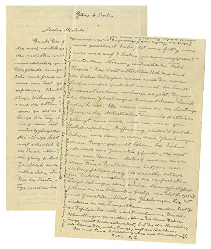 "Albert Einstein Autograph Letter Signed Regarding His United Field Theory: ""…I have been brooding and calculating almost all of my days and half of the nights…'Unified Field Theory'…"""