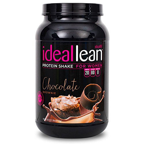 IdealLean, Protein Powder for Women, Chocolate Brownie, 20g Whey Protein Isolate, Calcium, Folic Acid, 0g Sugar, 0g Fat, 0 Carbs, 30 Serving