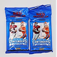 $27 » (2 Packs) 2021/22 Panini NFL Football Contenders Draft Picks - Look for Red Cracked Ice Parallels
