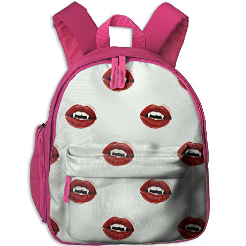 Vampire Kiss Lightweight Book Bag Cute Animal Kid's School Daypack Camp Children Kindergarten Backpacks 12.5