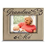 BELLA BUSTA- Grandma and Me Picture Frame- Grandma Gifts- Gift for Grandparents-Engraved Leather Picture Frame -4'x 6' Horizontal(Grandma)